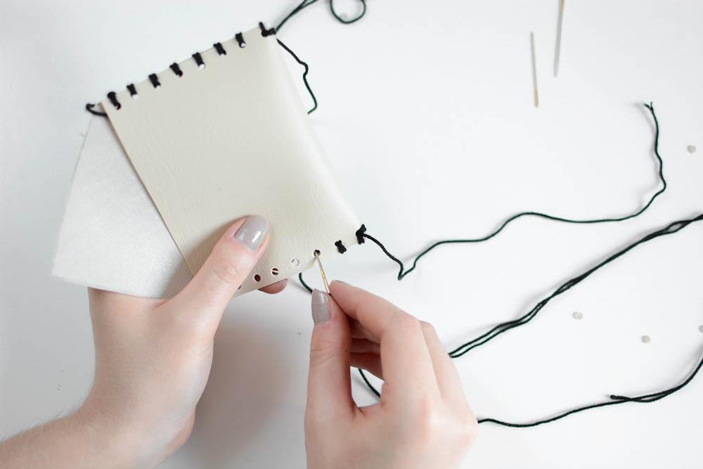 Leder-Täschchen nähen |we love handmade