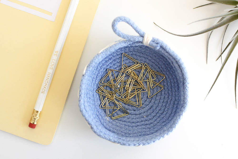 Schale aus Seilen selber machen | we love handmade
