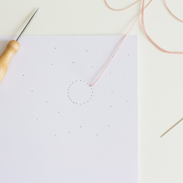 DIY: Papier besticken | we love handmade