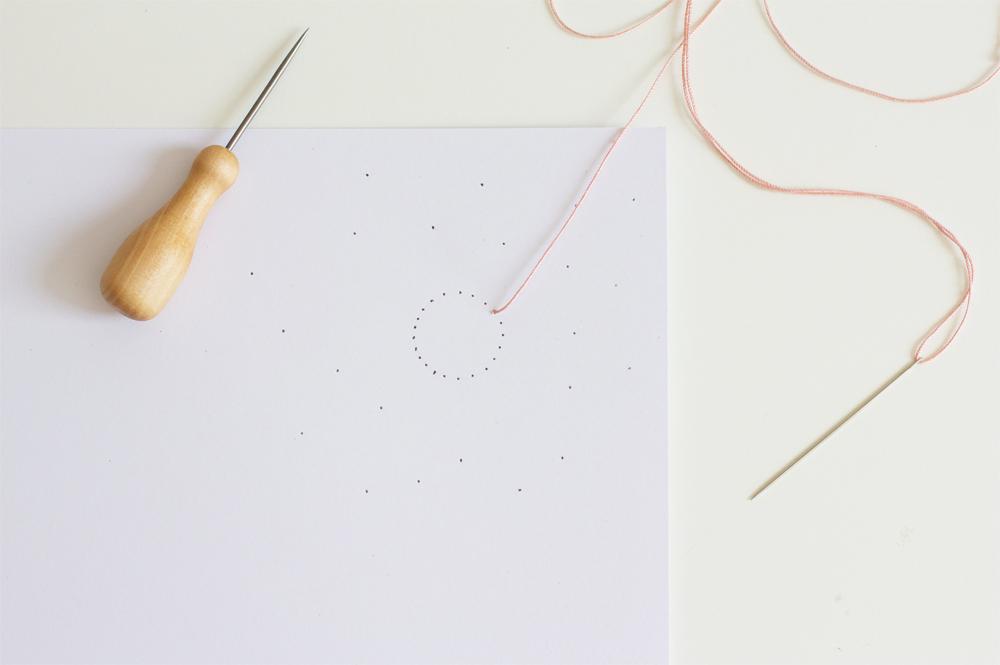 DIY: Papier besticken |we love handmade