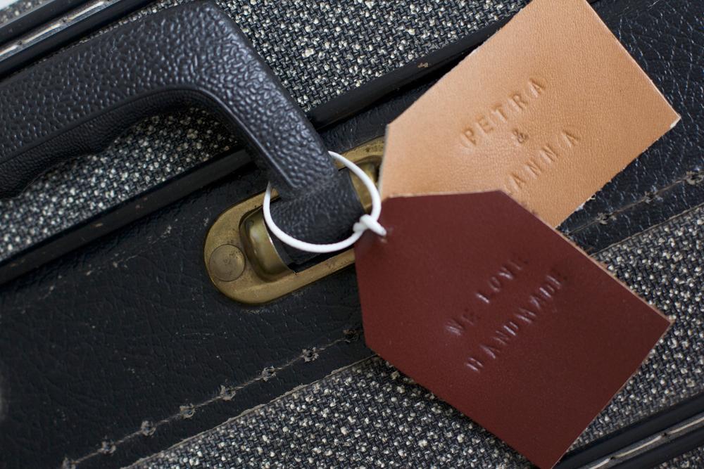 Kofferanhänger aus Leder |we love handmade