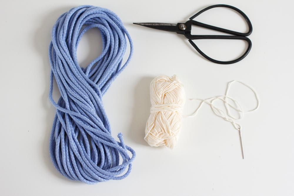 Material für Schale aus Seilen |we love handmade
