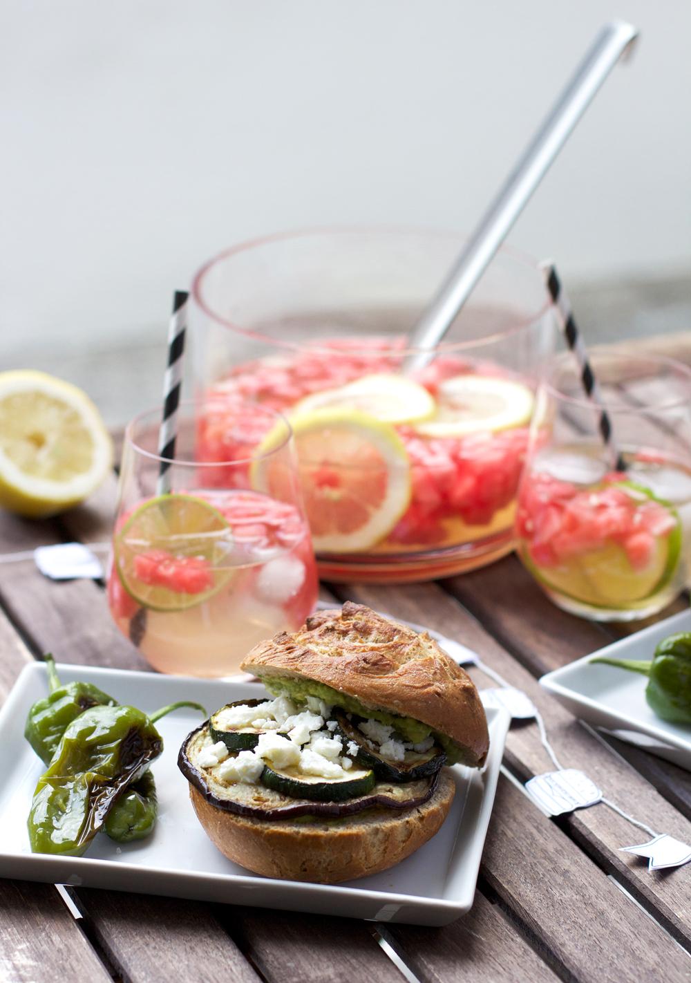 Rezept: Veggie-Burger mit Grillgemüse |we love handmade
