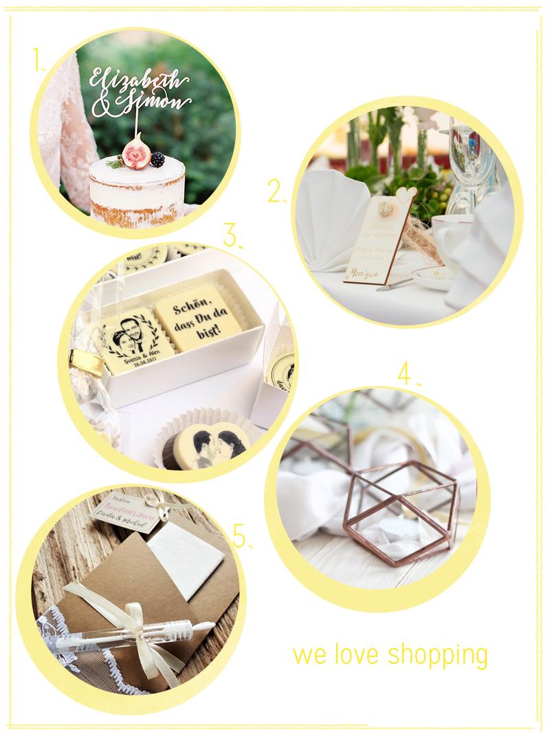 we love Shopping: Hochzeitsdeko-Ideen |we love handmade