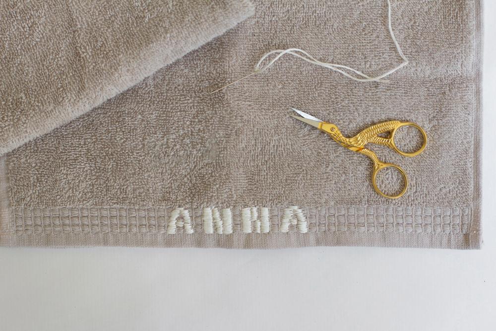 Besticktes Handtuch | we love handmade