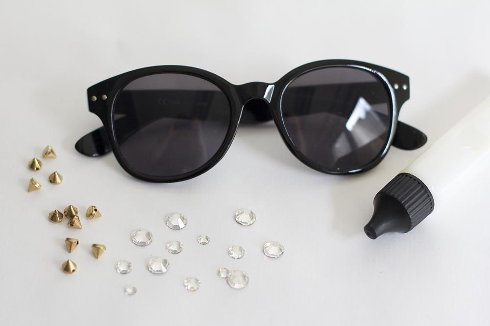 Sonnenbrille mit Glitzersteinen: Material | we love handmade