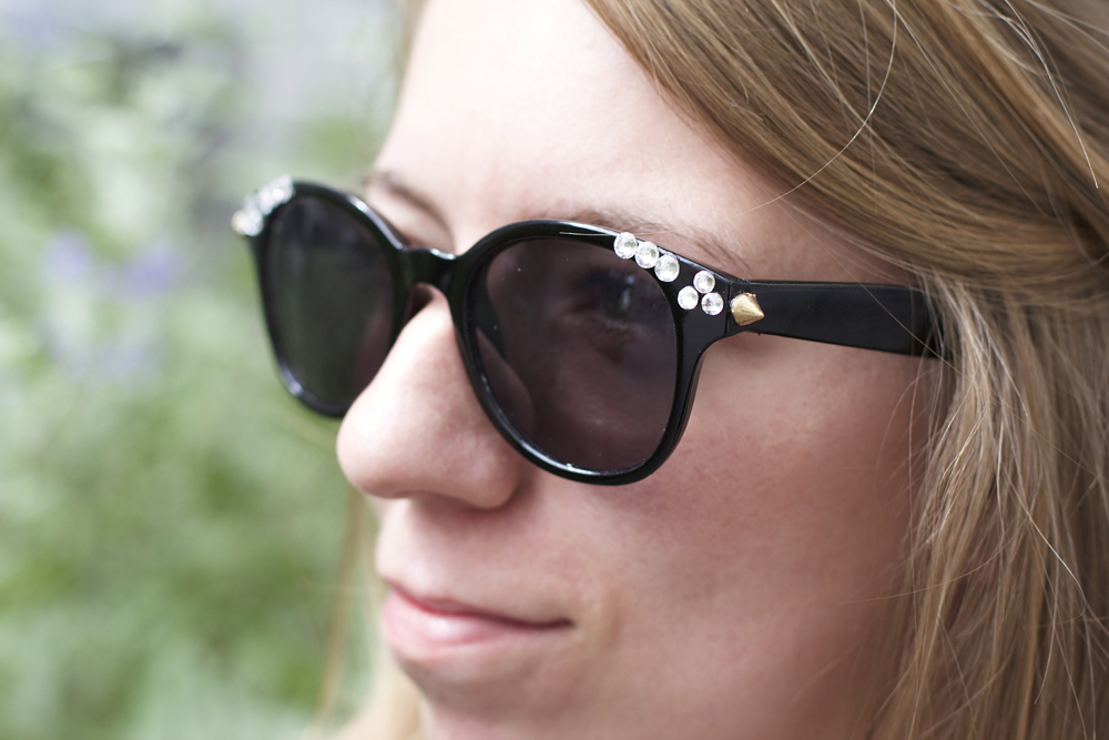 Strass-Sonnenbrille | we love handmade