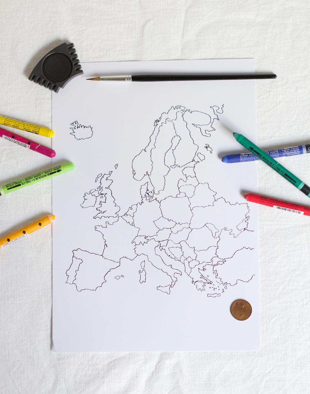 DIY: Europakarte zum Aufrubbeln |we love handmade