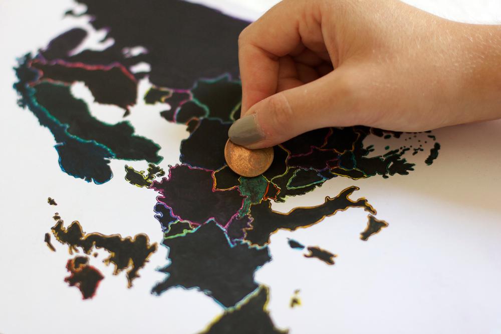 DIY: Europakarte zum Freirubbeln |we love handmade