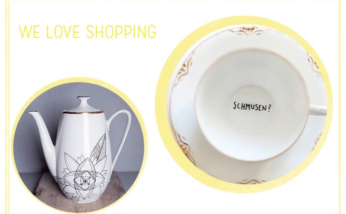 we love Shopping: bemaltes Porzellan |we love handmade