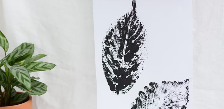 DIY: Blätterdruck