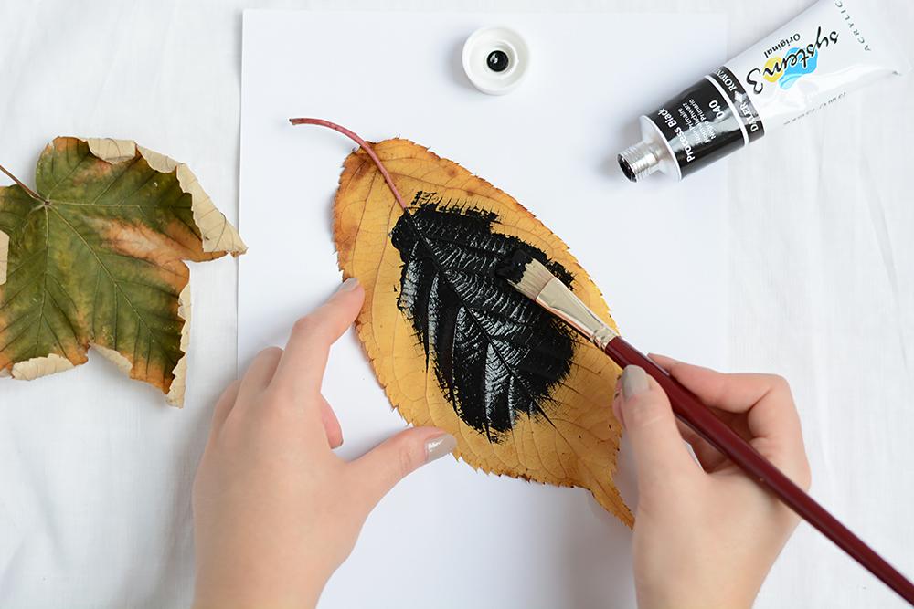 Blätterdruck selbster machen | we love handmade