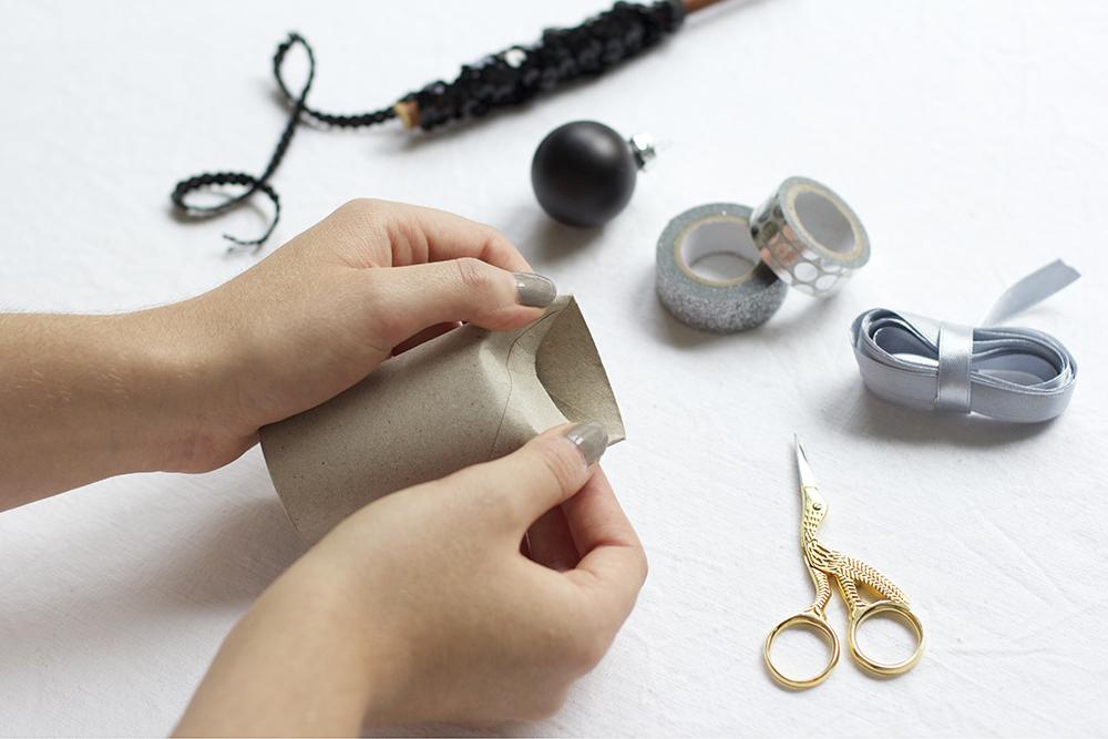 Geschenkbox aus Klopapierrolle | we love handmade