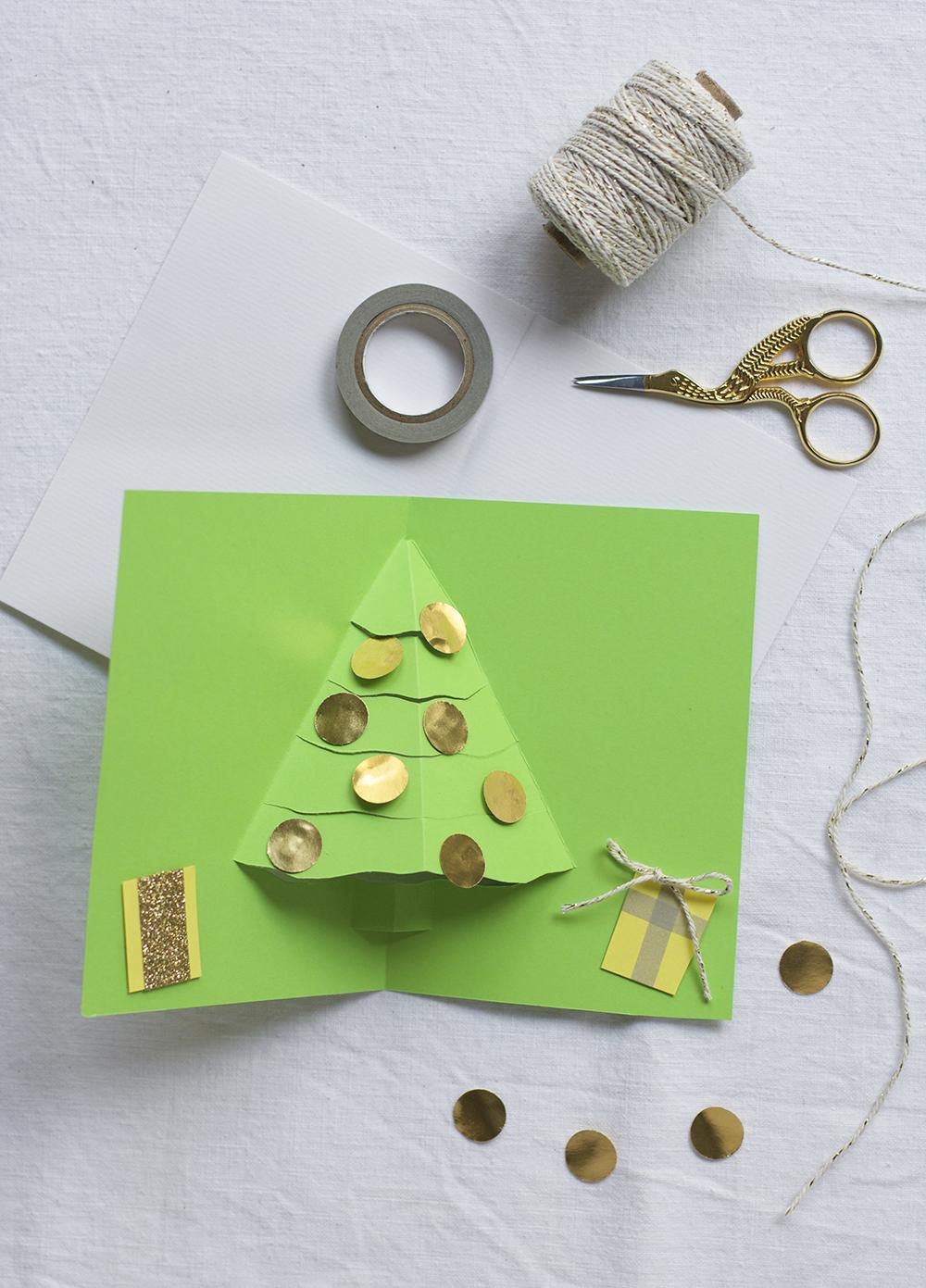 Weihnachtliche Klappkarte: DIY | we love handmade