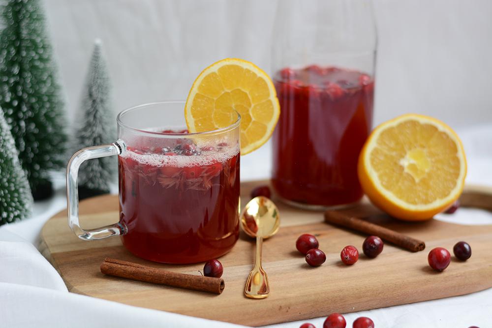 Weihnachtlicher Cranberry-Punsch | we love handmade