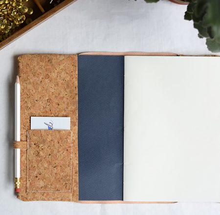 DIY: Notizbuchhülle aus Kork nähen