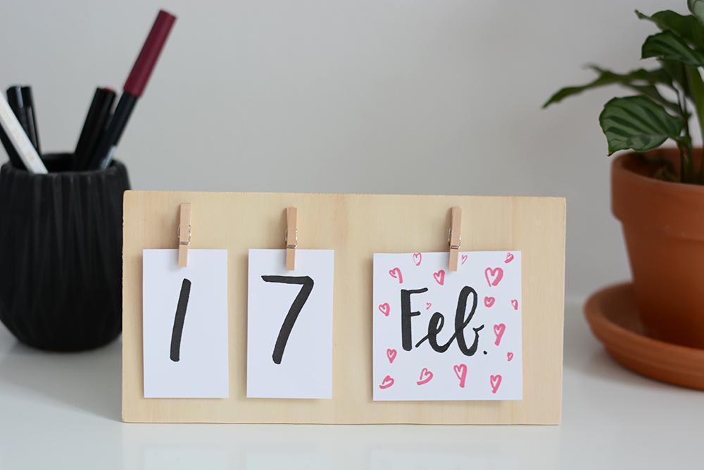 Tischkalender aus Holz | we love handmade