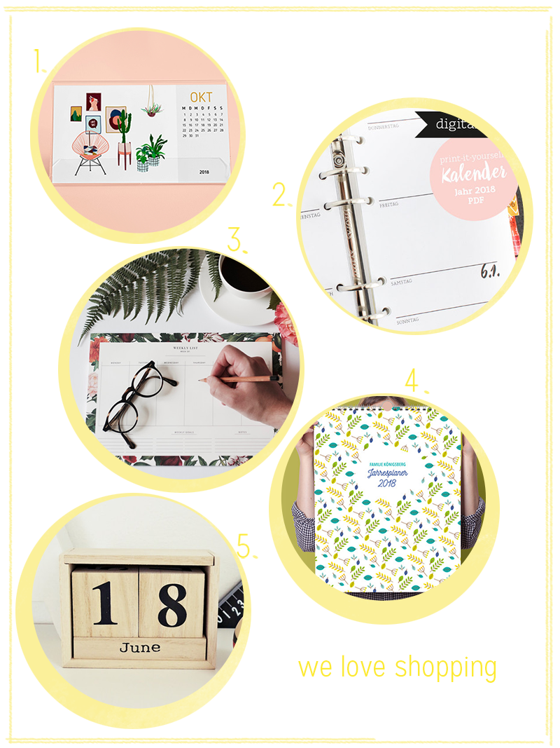 we love shopping: Kalender 2018 | we love handmade