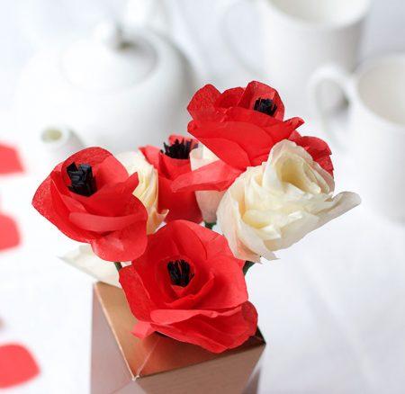 DIY: Mohnblumen aus Seidenpapier