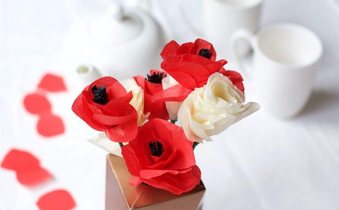 DIY: Mohnblumen aus Seidenpapier |we love handmade