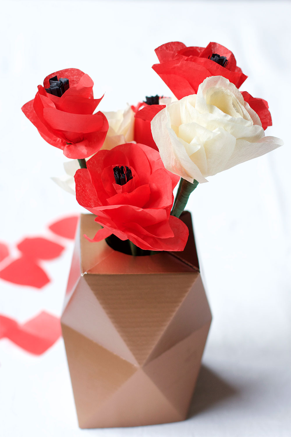 Mohn-Papierblumen | we love handmade