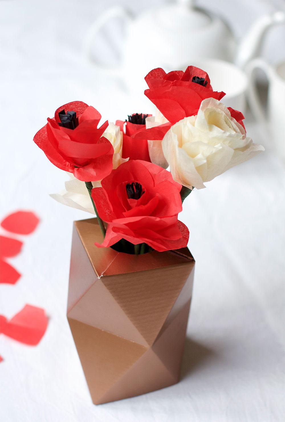 Mohnblumen aus Seidenpapier |we love handmade