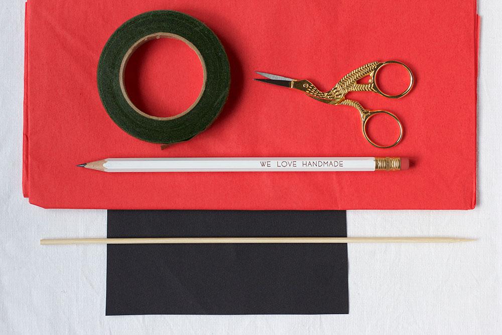 Mohn-Papierblumen Material | we love handmade