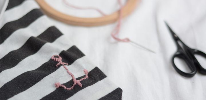 DIY: T-Shirt besticken – Anker