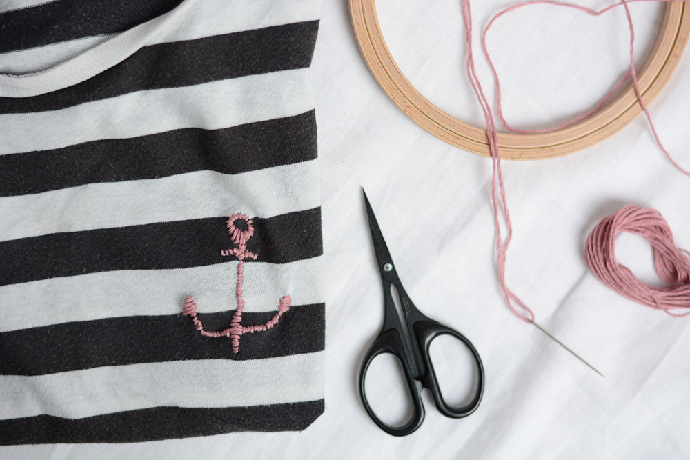 T-Shirt mit Anker: DIY | we love handmade