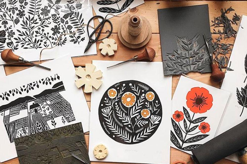 we love Inspiration: Linol Cut Richelle Bergen Atelier   we love handmade