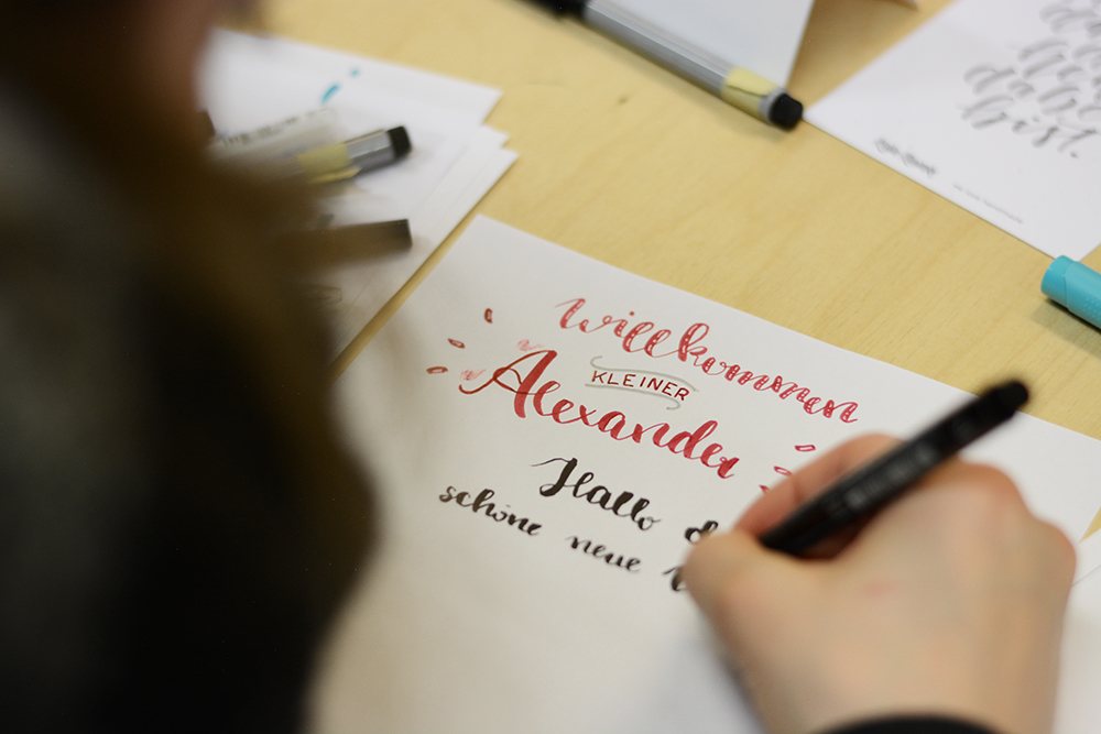 Brush Lettering Workshop Wien | we love handmade