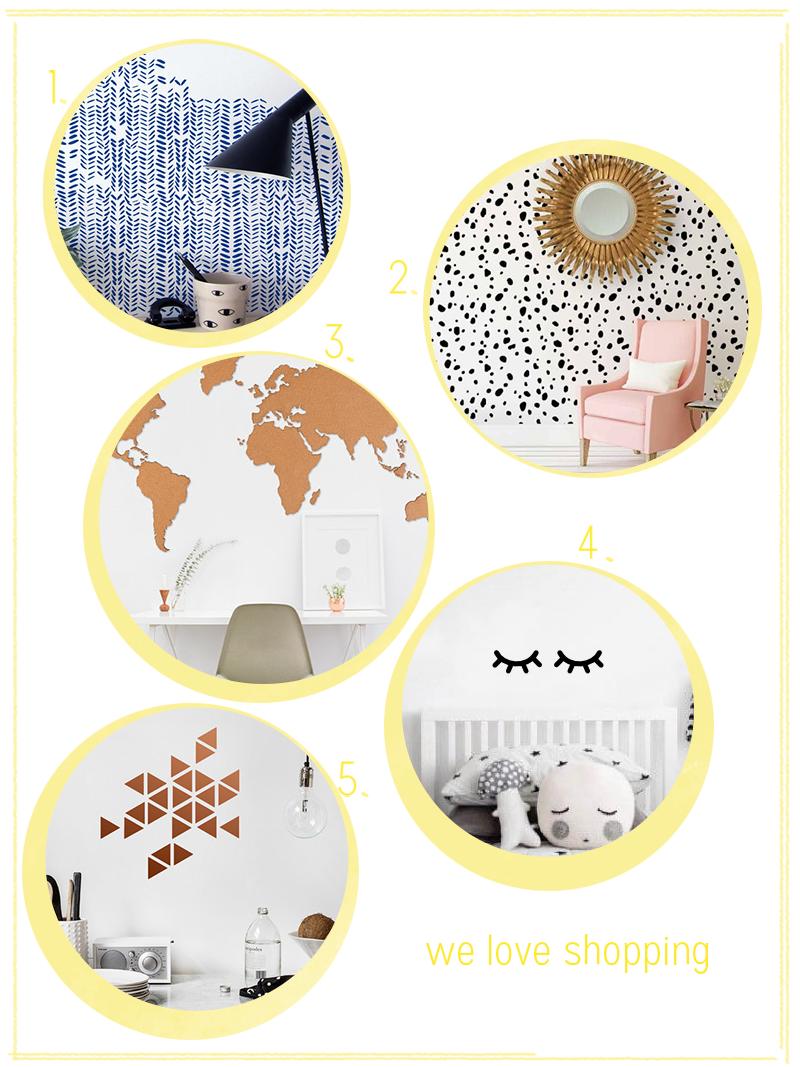 we love Shopping: Wansticker und Tapeten