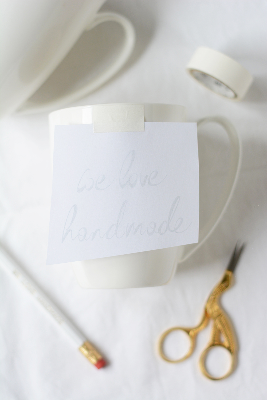 Tasse beschriften: DIY | we love handmade