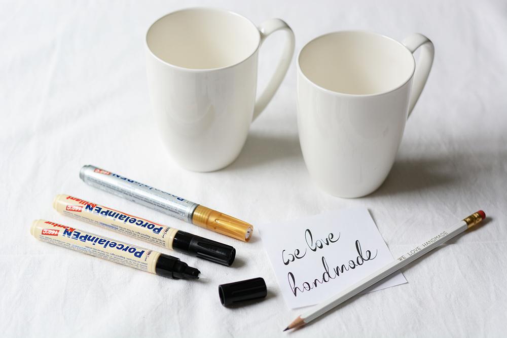 Tasse beschriften: Material  we love handmade