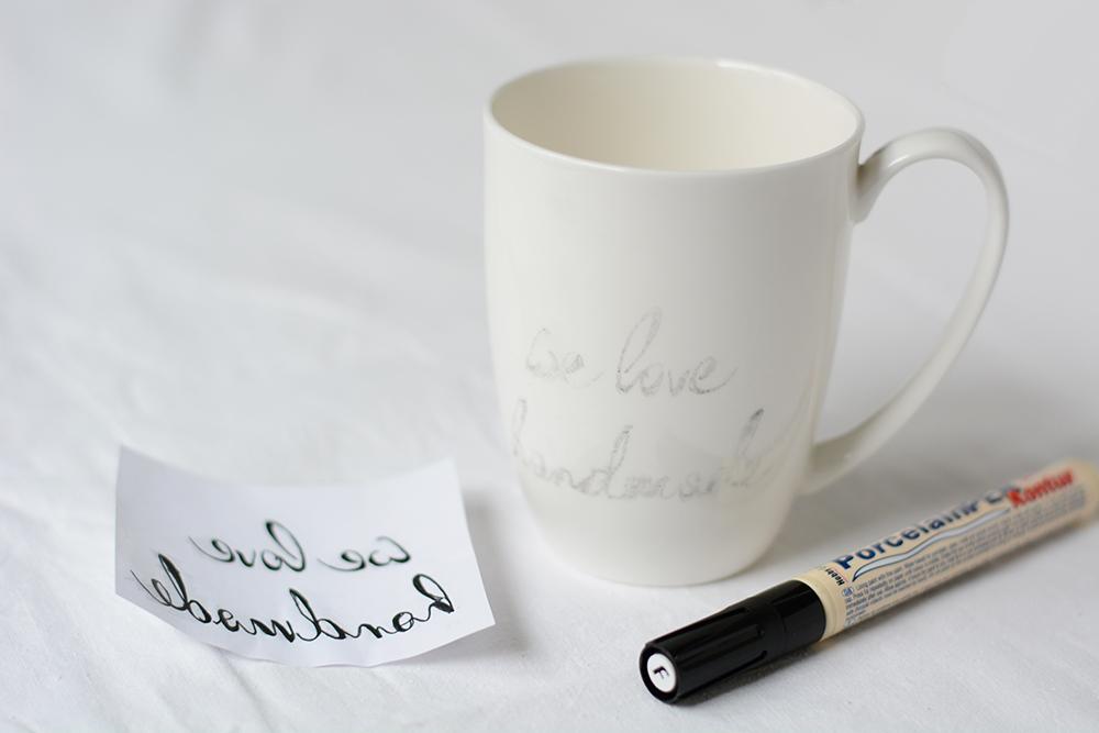 Tasse beschriften: Transfer | we love handmade