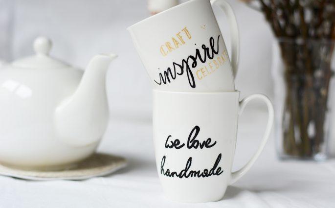 Tassen beschriften | we love handmade