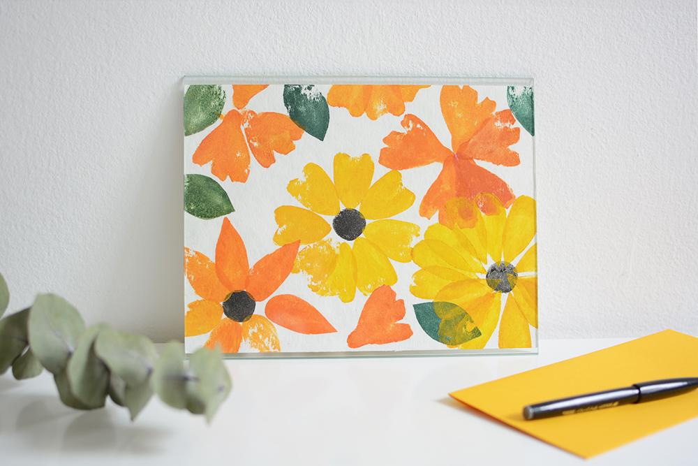 Blumen-Poster gestempelt | we love handmade