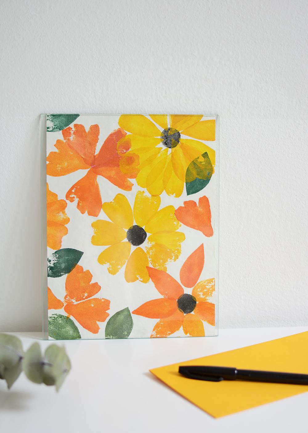Blumen-Stempel-Druck | we love handmade