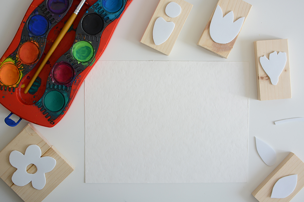 Blumen-Stempel: Poster DIY | we love handmade