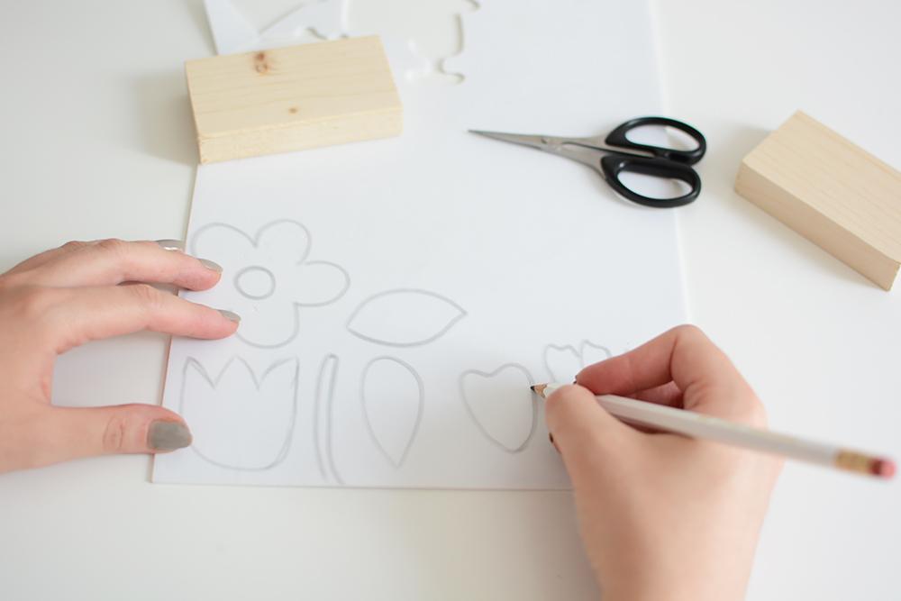Blumen-Stempel zeichnen | we love handmade