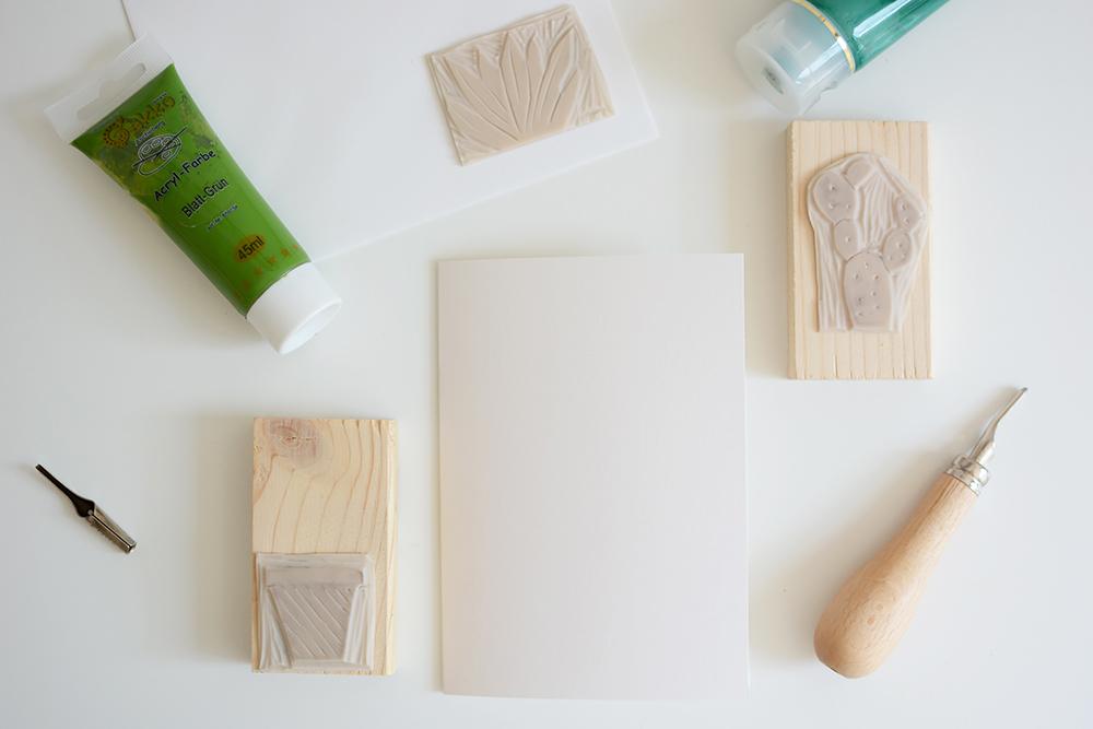Kakteen-Stempel: Postkarten | we love handmade