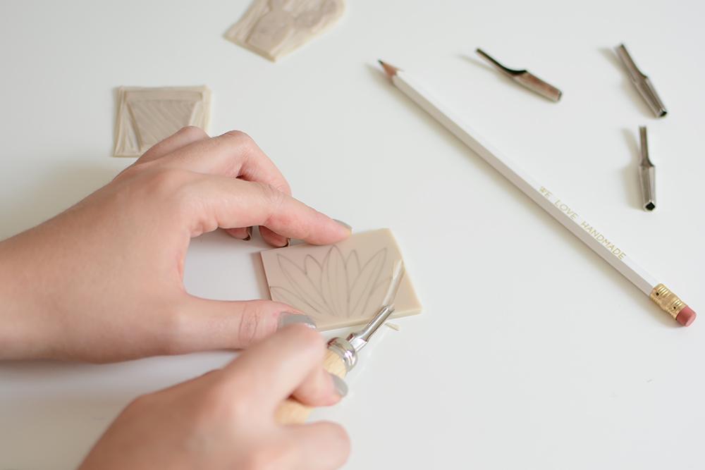 Kakteen-Stempel schnitzen | we love handmade