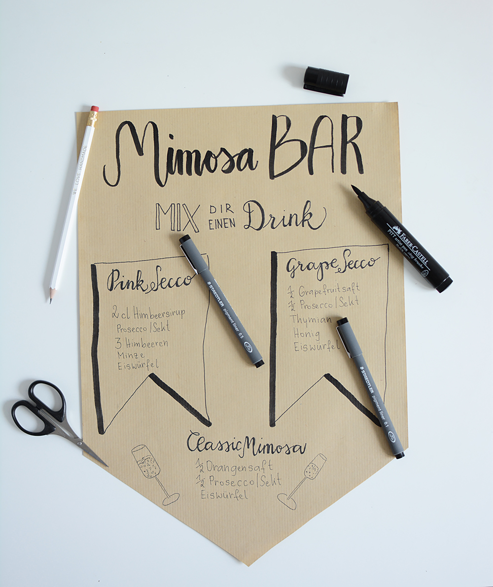 Lettering: Mimosa-Bar Banner | we love handmade