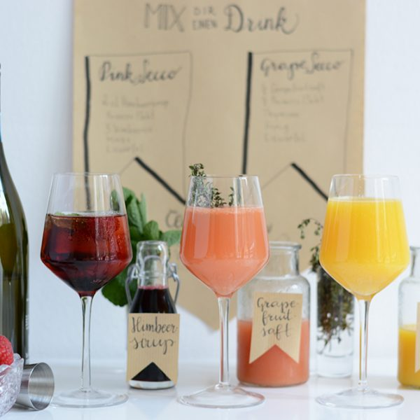 Mimosa-Bar: Drink-Rezepte | we love handmade