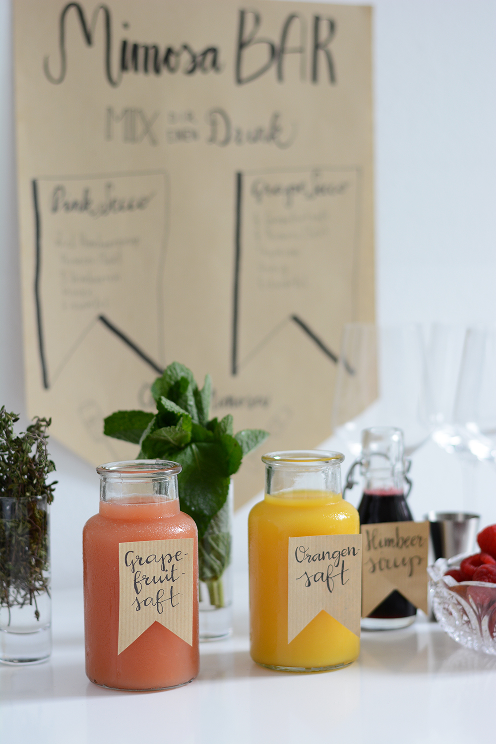 Mimosa-Bar: Party | we love handmade