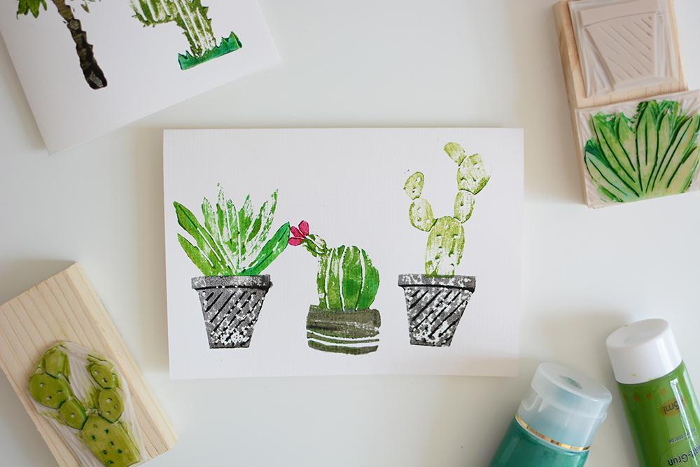 gestempelte Kakteen-Karten | we love handmade