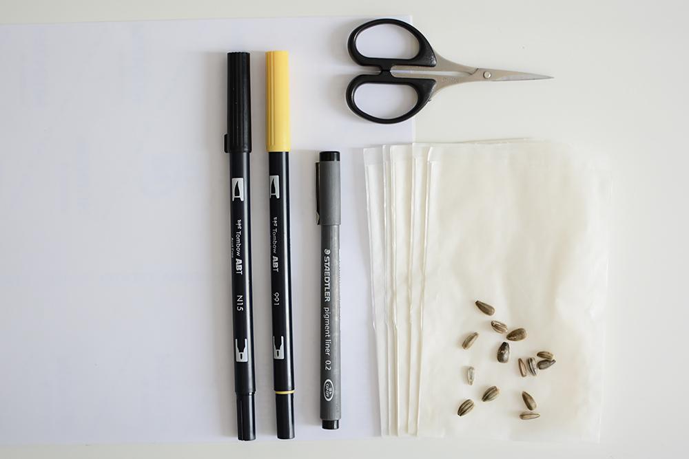 Gastgeschenk: Sonnenblumen-Hochzeit - Material | we love handmade