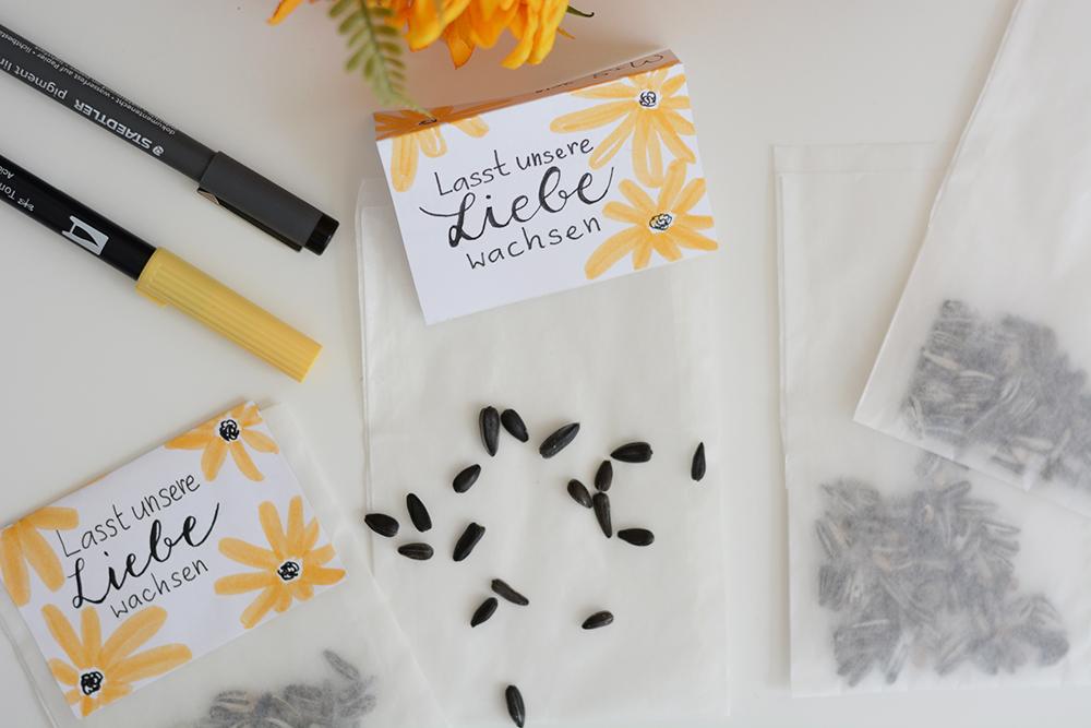 Sonnenblumen-Sackerl: DIY | we love handmade