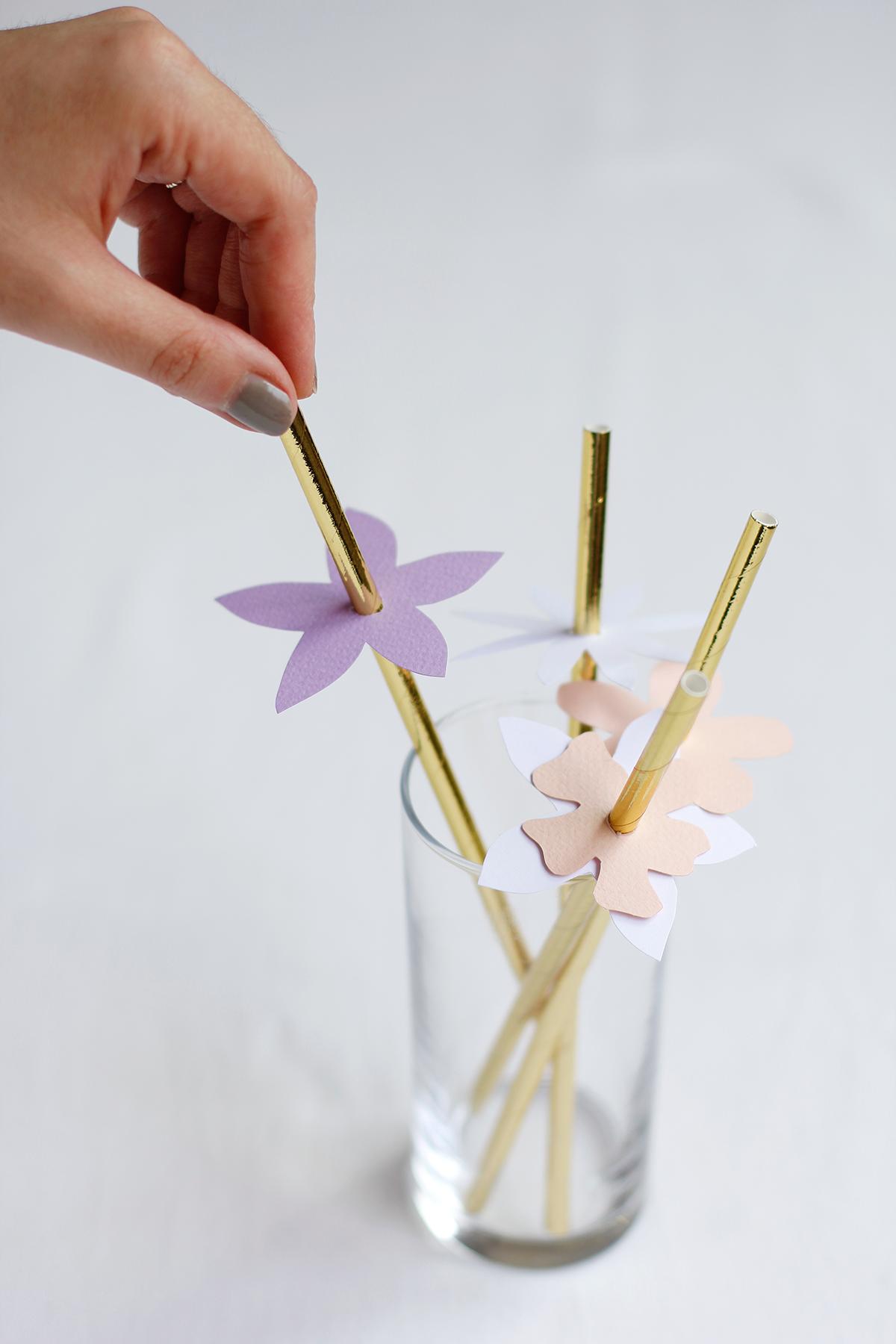 Blumen-Markierung für Strohhalme | we love handmade