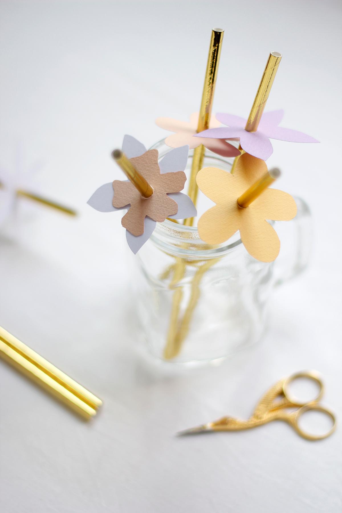 Blumen-Markierung Strohhalme | we love handmade